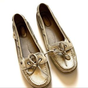 COPY - Sperry top sider gold metallic boat shoes …